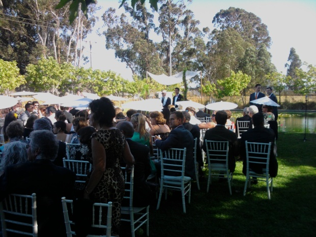 Cornerstone Gardens Sonoma Wedding Ceremony Photo 2010