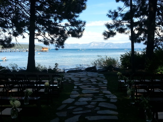 Gatekeeper's Museum Tahoe Wedding Ceremony Setup - DJ Jeremy Productions