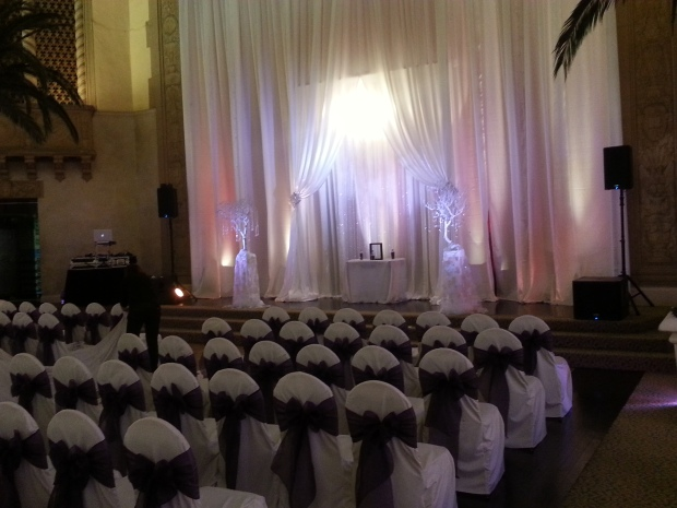 Corinthian Grand Ballroom San Jose Wedding Setup Photo - DJ Jeremy Productions