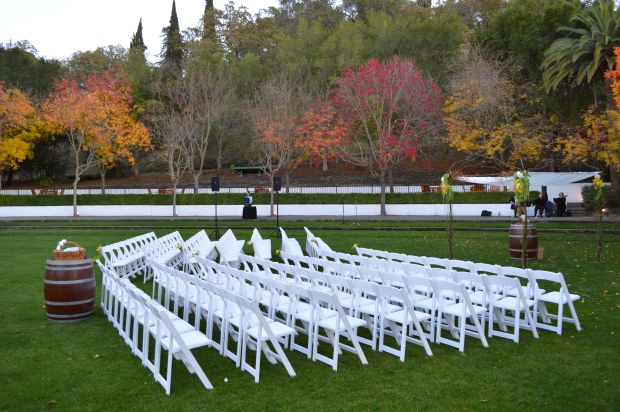 Wente Wedding Photo - Ceremony Setup - DJ Jeremy Productions