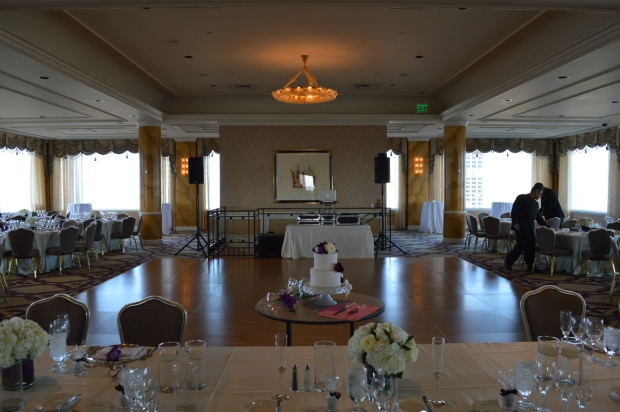 Fairmont Hotel Crown Room Wedding Setup Photo - DJ Jeremy Productions