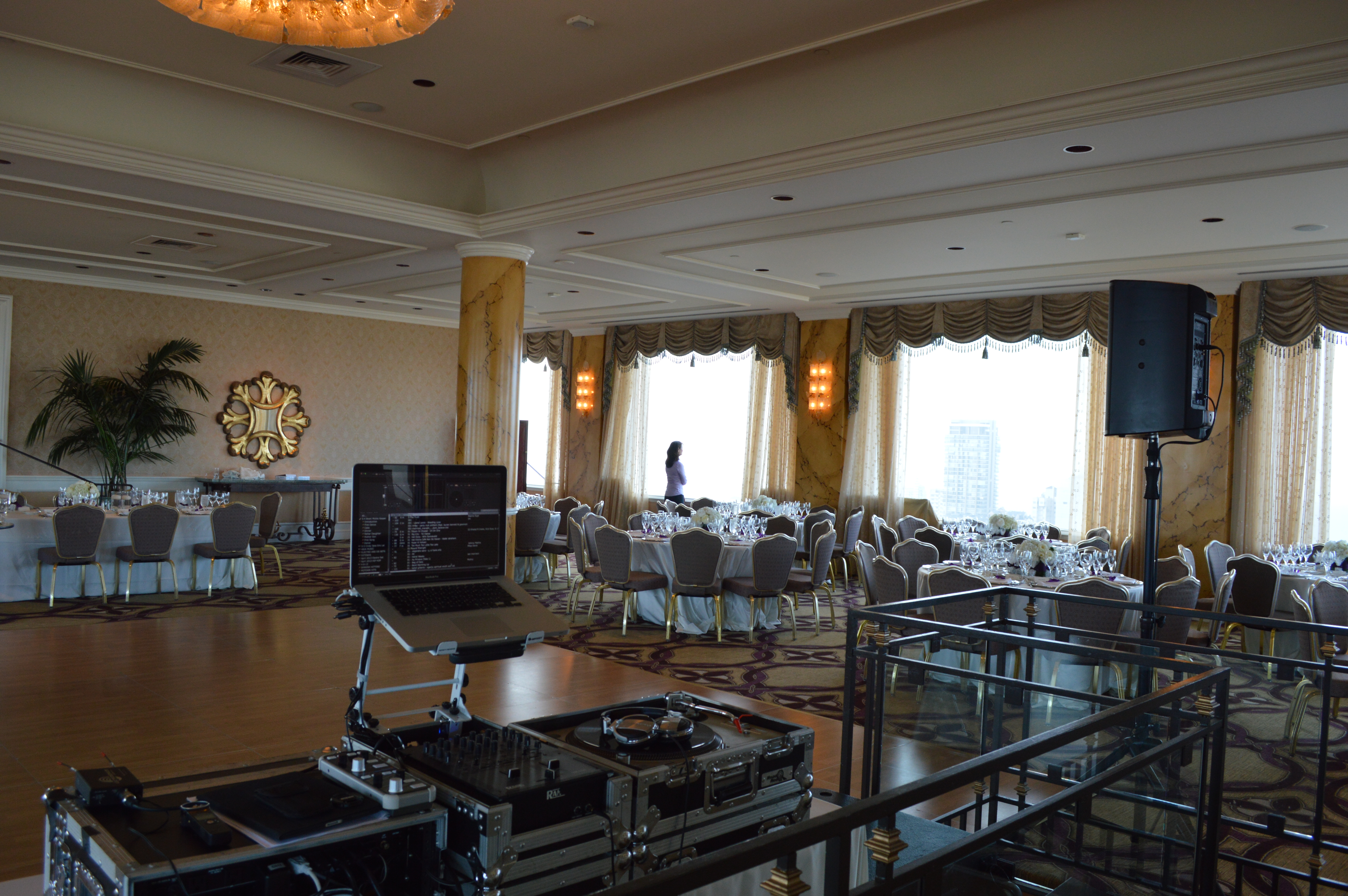 Fairmont Hotel Crown Room Wedding Setup Photo Dj Jeremy