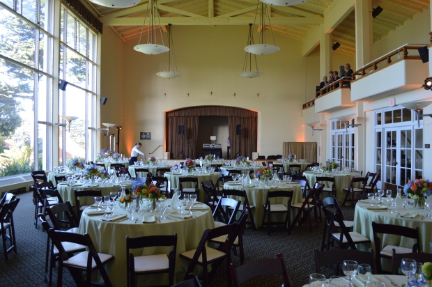 Golden Gate Club Ventana Room Wedding Setup Photo - DJ Jeremy Productions