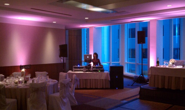 InterContinental San Francisco Wedding Reception Setup Photo