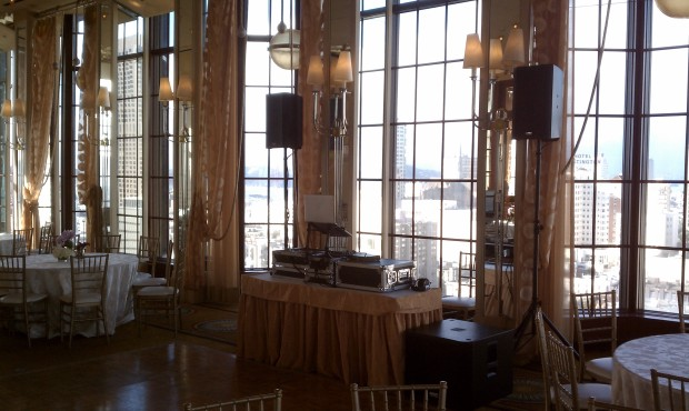 Westin St. Francis San Francisco Imperial Room Wedding Setup Photo 2010