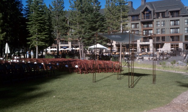 Ritz Carlton Lake Tahoe Wedding Ceremony Photo - DJ Jeremy Productions