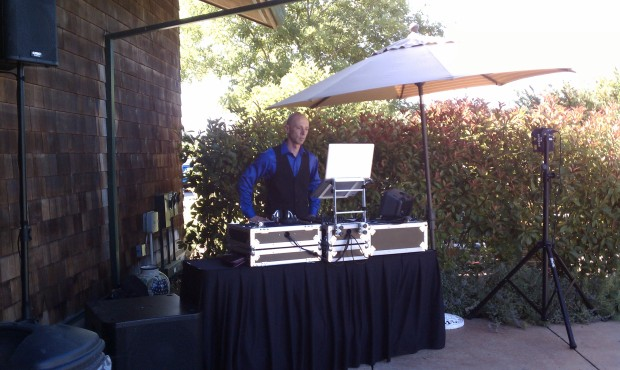 DeLorimier Winery Wedding Setup Photo - DJ Jeremy Productions