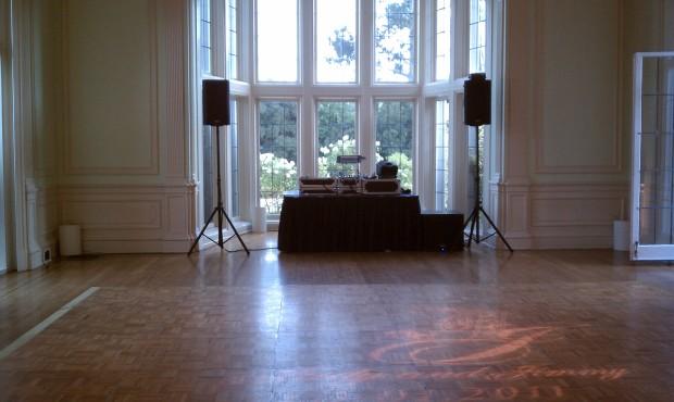 Kohl Mansion Wedding Setup Photo - DJ Jeremy Productions