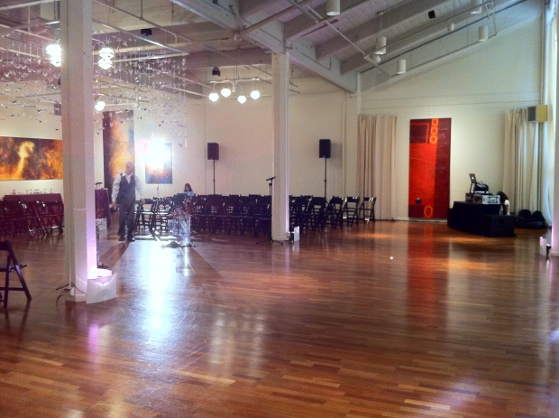 Terra Gallery San Francisco Wedding Ceremony Setup Photo (upstairs area)