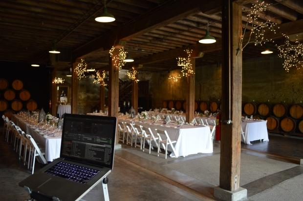 Murietta's Well Barrel Room wedding
