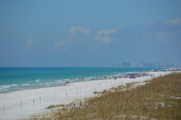 Beach facing west to Pensacola