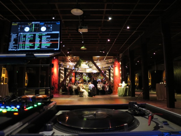 Dinner Setup viewed from the DJ Console