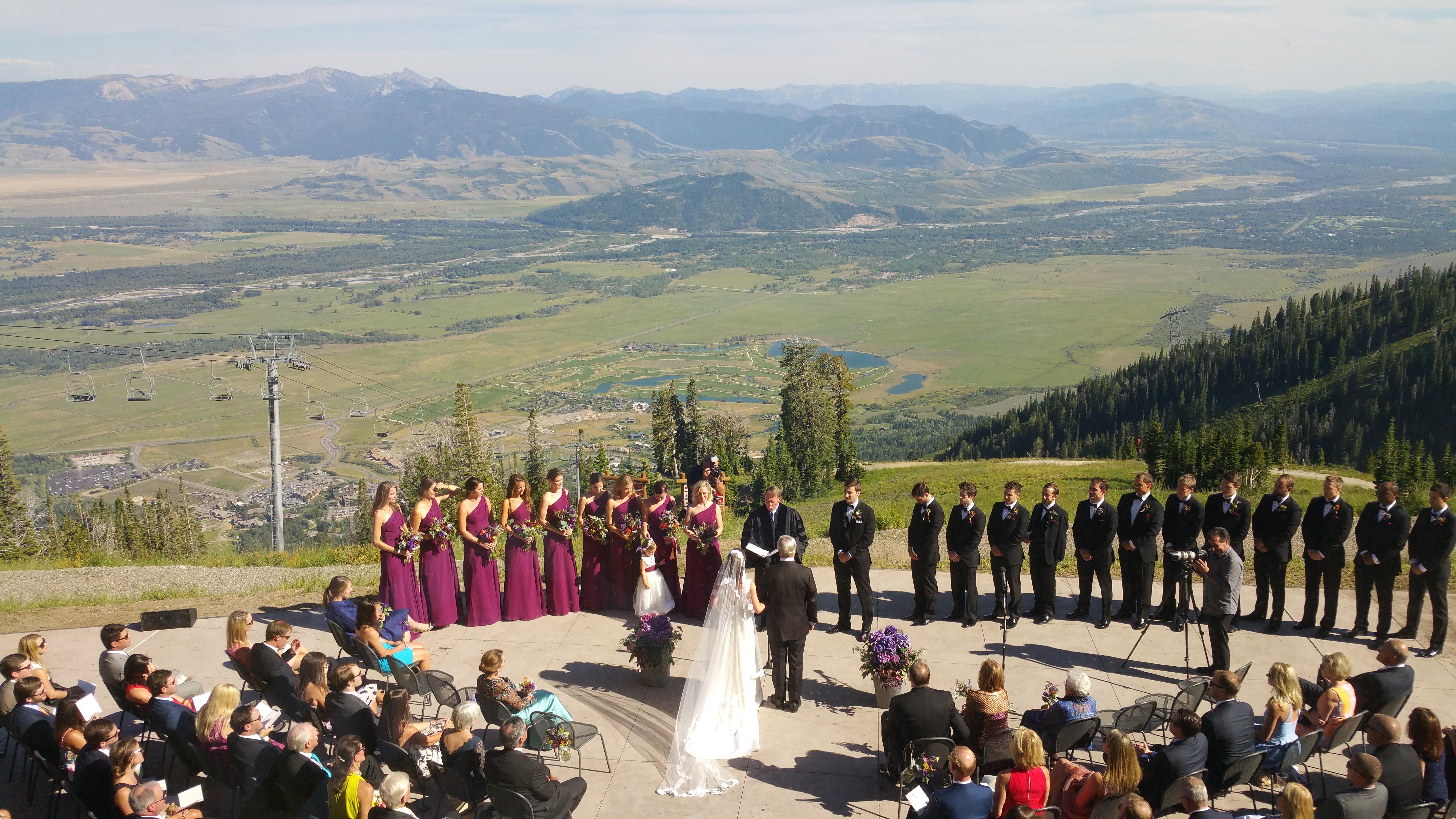 Four seasons jackson hole wedding lawn images