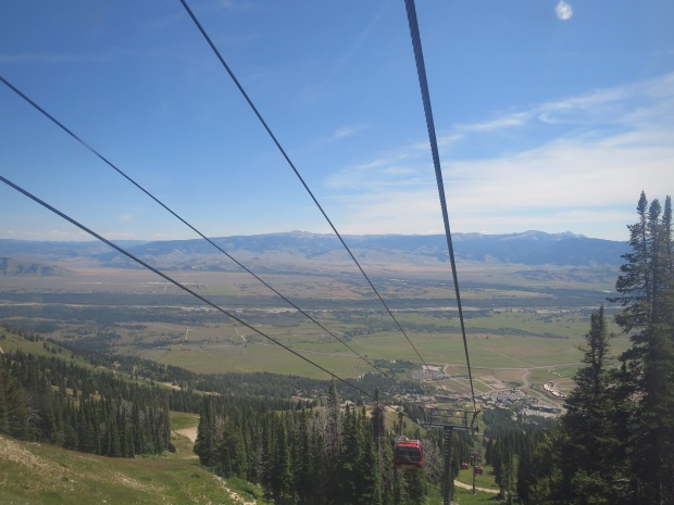 View from the gondola that takes you up to Couloir Restaurant (its located at over 9,000 feet in elevation)